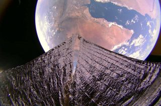 An image of the Horn of Africa and the Gulf of Aden taken by a camera on LightSail 2 on Jan. 19, 2020.