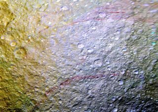 Red Streak on Tethys