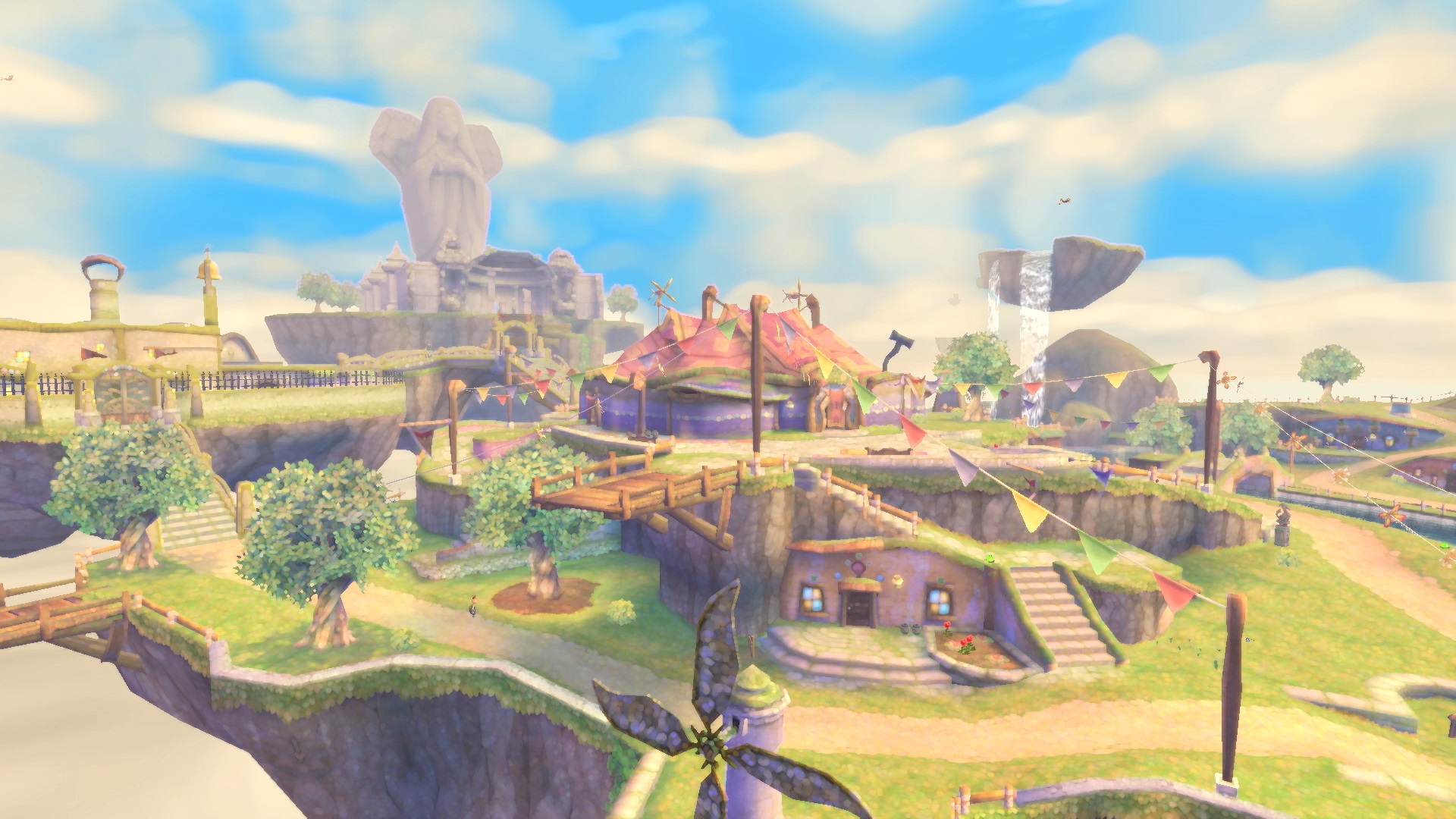 The city of skyloft from The Legend of Zelda