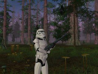 A Stormtrooper in Star Wars: Galaxies