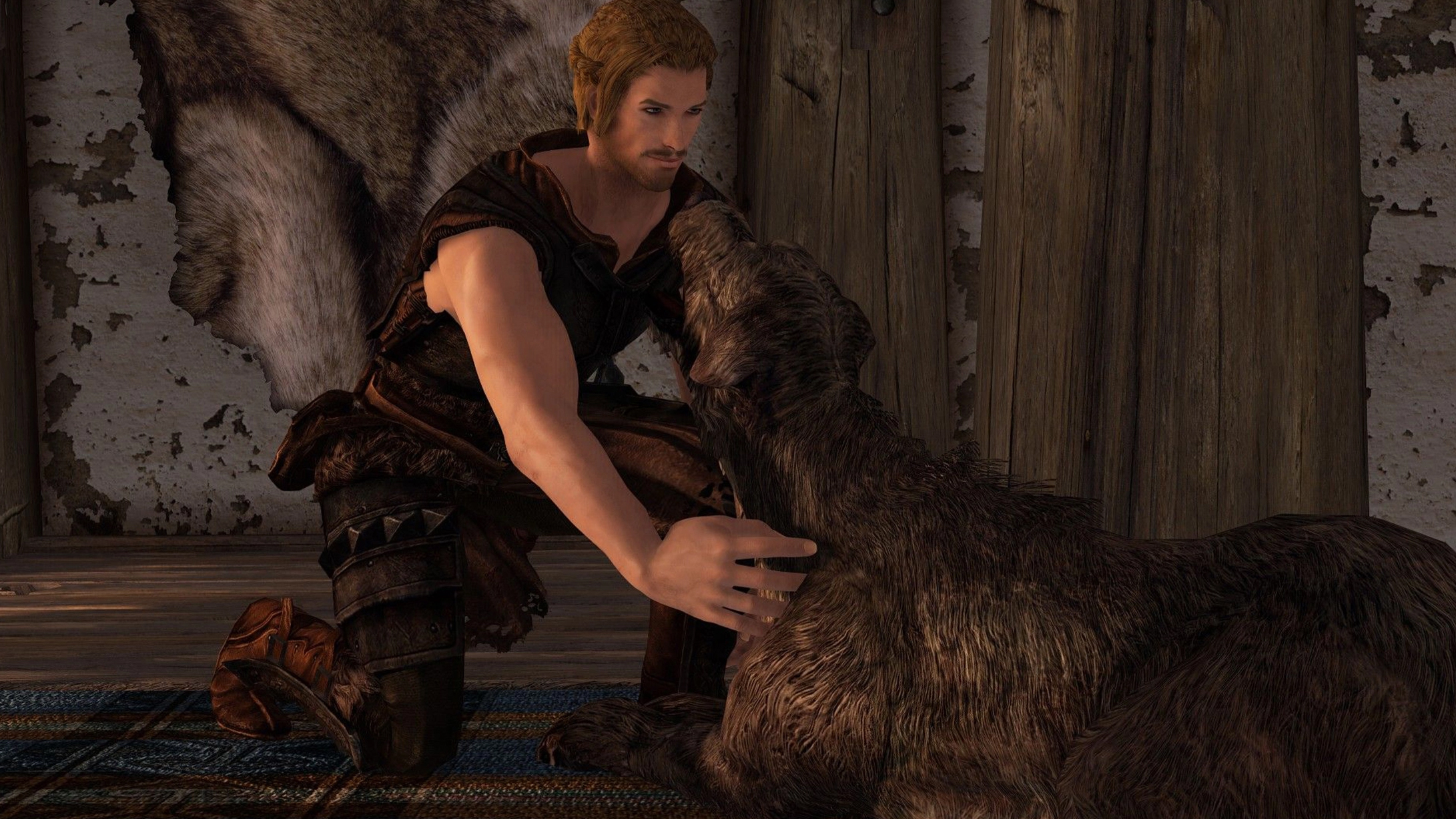 You can finally pet the dog in Skyrim