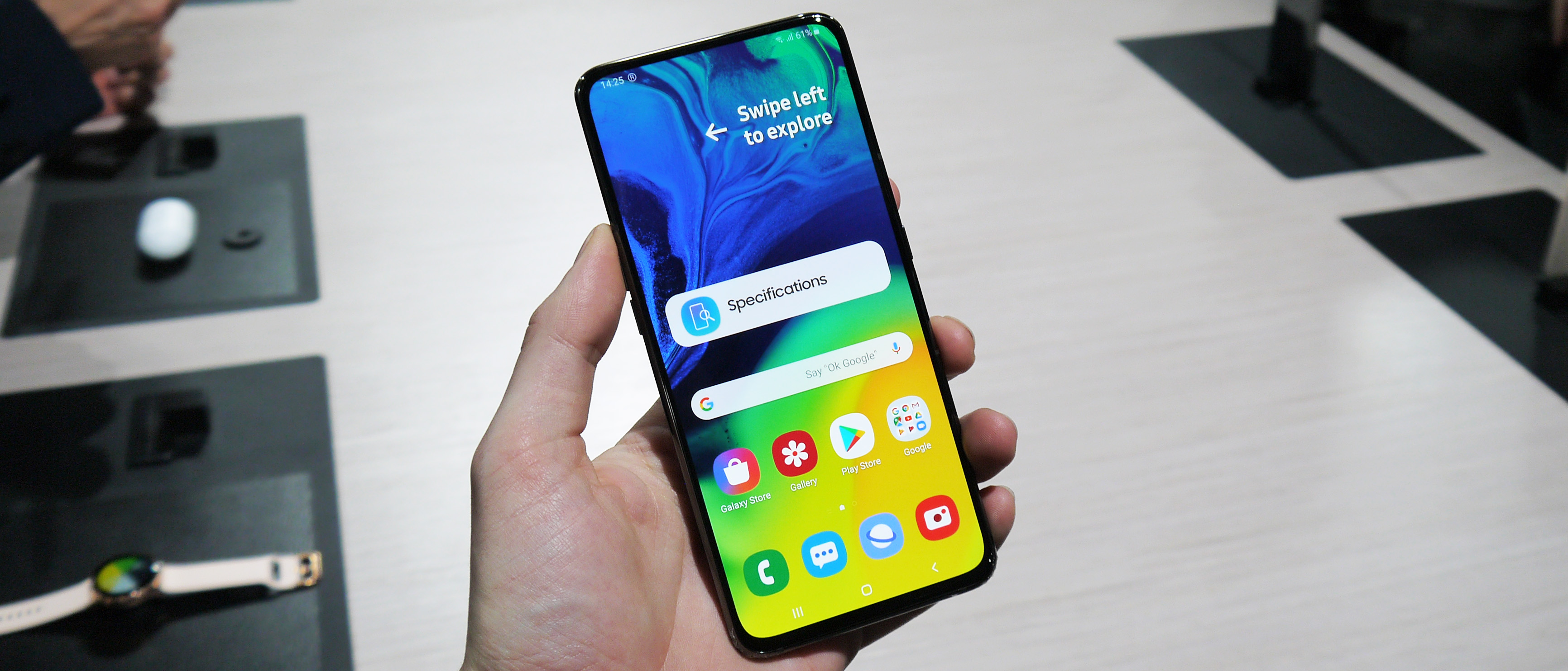 Image result for Samsung Galaxy A80 hands on review