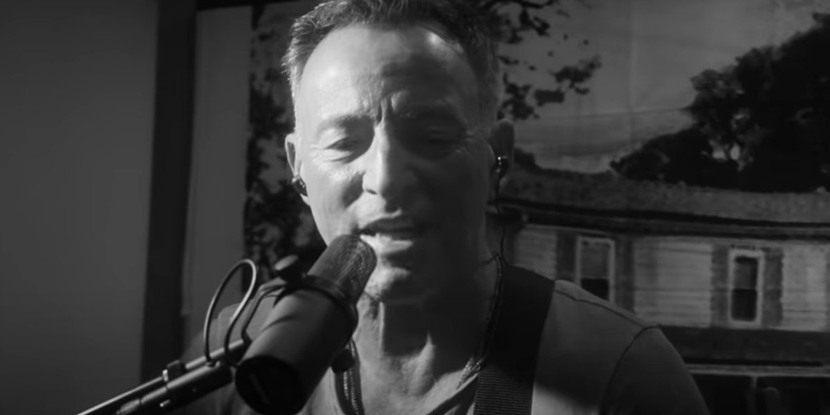 Bruce Springsteen in his documentary, Bruce Springsteen's Letter To You.