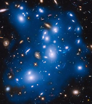 Pandora's Cluster Ghost Light by Hubble Telescope