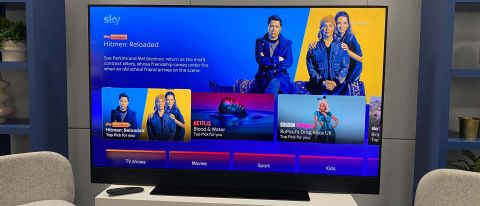 The Sky Glass TV in a lounge setting