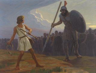 David vs. Goliath, by Gebhard Fugel