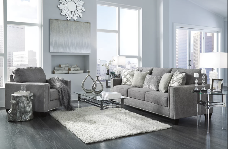 Barrali Sofa in a modern glam living room