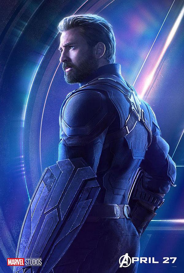 avengers Infinity war poster featuring Captain America, aka Steve Rogers