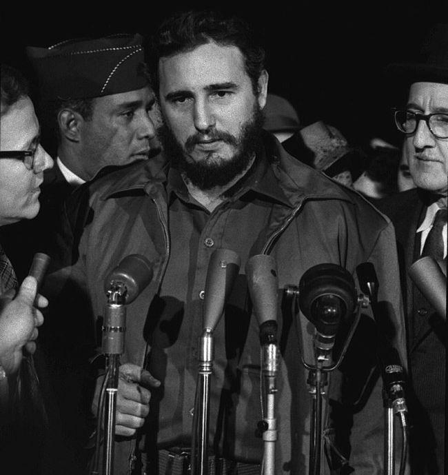 Fidel Castro arrives MATS Terminal, Washington, D.C.
