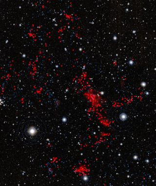 Huge Galaxy Cluster Hints at Universe's Skeleton