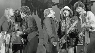Joni Mitchell, Neil Young, Rick Danko, Van Morrison, Bob Dylan, Robbie Robertson