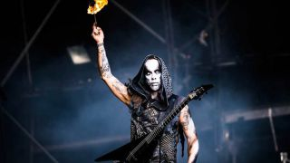 Nergal onstage at Bloodstock