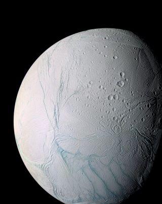 Enhanced Color View of Enceladus