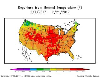 US Temperature Map 2017