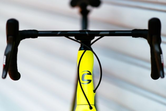 The new Cannondale Synapse features more integration and this very tidy front end