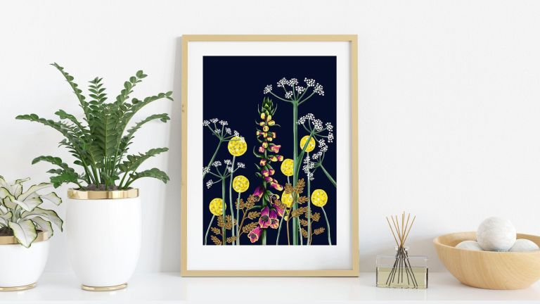 Etsy artwork: LauraAndrewsStudio Evening Foxglove Botanical Art Print