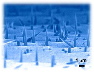 Nanolasers grown on silicon, nano needles