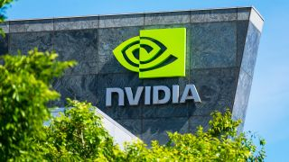 Nvidia sign on a building