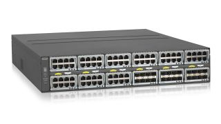 Netgear's 96-port M4300-96X network switch is preconfigured for plug-and-play integration with SDVoE networks.