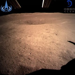 The first image of the moon's far side taken by China's Chang'e 4 probe, which touched down on Jan. 2, 2019 (Jan. 3 Beijing time).