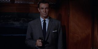 From Russia With Love Sean Connery aims his gun in a train cabin