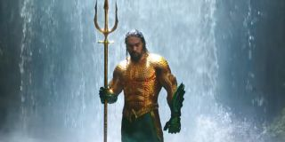Arthur Curry assuming his role as Atlantis' true king after obtaining the trident in Aquaman
