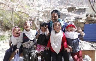 Nadiya's Asian Odyssey - with children in Nepal