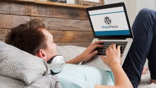 WordPress on a laptop