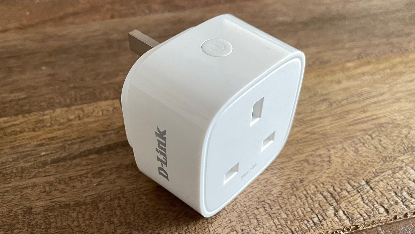 D-Link Mini Wi-Fi Smart Plug DSP-W118 on a table