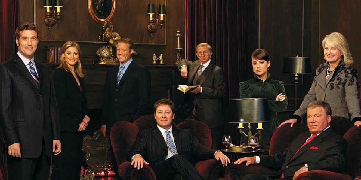 William Shatner, James Spader, and Candice Bergen in Boston Legal