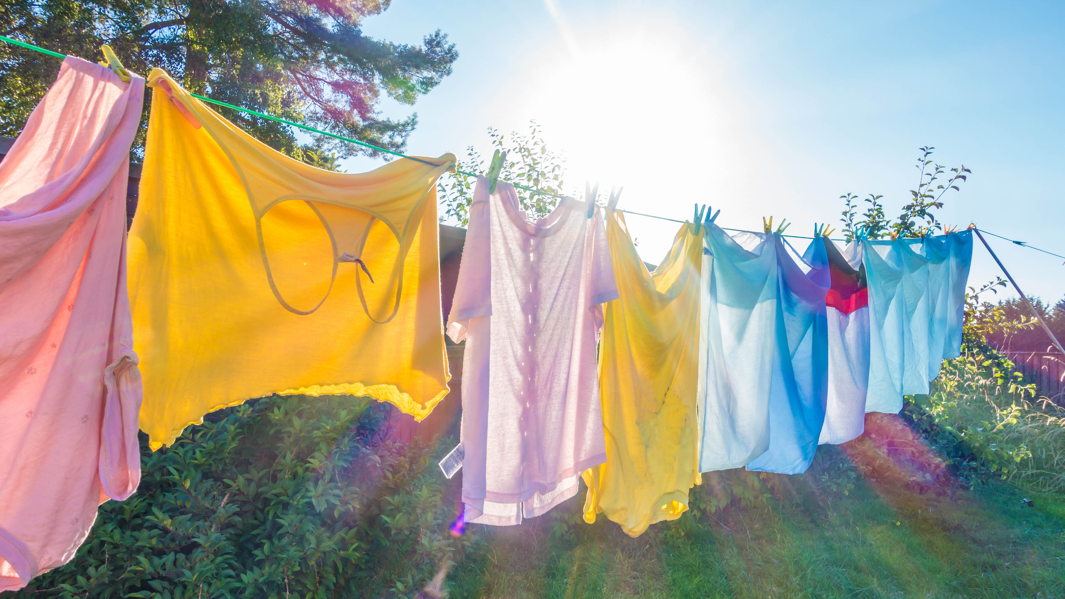 How to make your laundry more eco-friendly - washing line