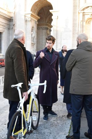 Peter Sagan with Ermanno Leonardi of Specialized Italia