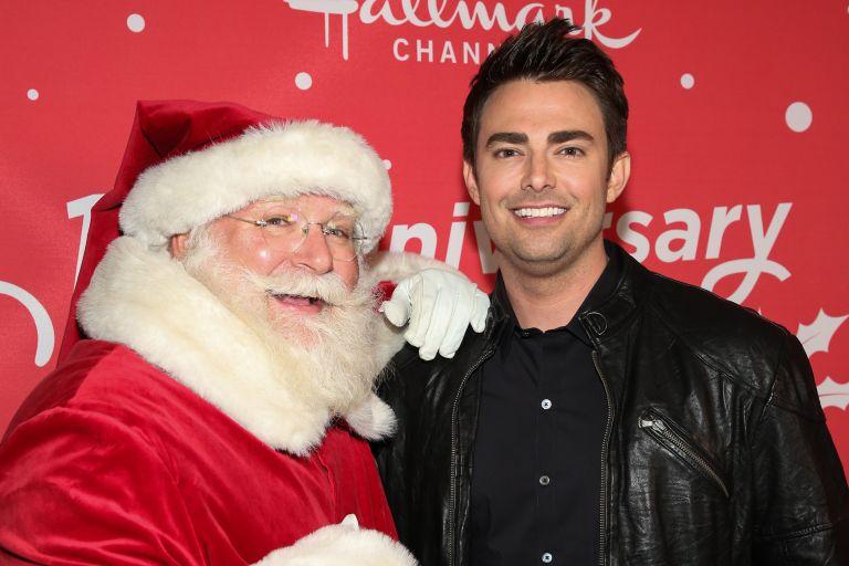 Hallmarks Christmas movie Santa and actor Jonathan Bennett