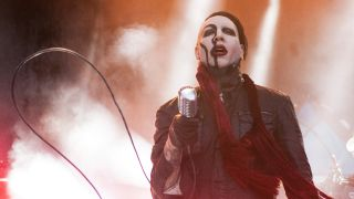 Marilyn Manson at the FirstMerit Bank Pavilion at Northerly Island on August 7, 2015 in Chicago, Illinois