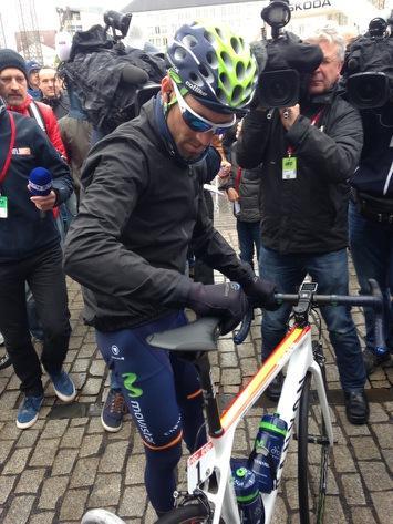 Alejandro Valverde at the start
