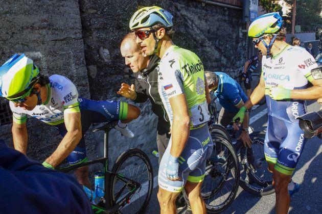 A crash in the 2016 Milan-San Remo
