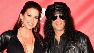 Perla Ferrar with Slash, 2014