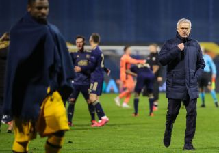 Coach of Tottenham Hotspur Jose Mourinho after the UEFA Europa League Round of 16 Second Leg match between Dinamo Zagreb and Tottenham Hotspur at Stadium Maksimir on March 18, 2021 in Zagreb, Croatia.