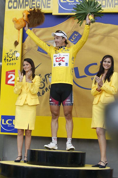 Fabian Cancellara stage 3 podium Tour de France 2007