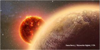 Alien world orbiting star