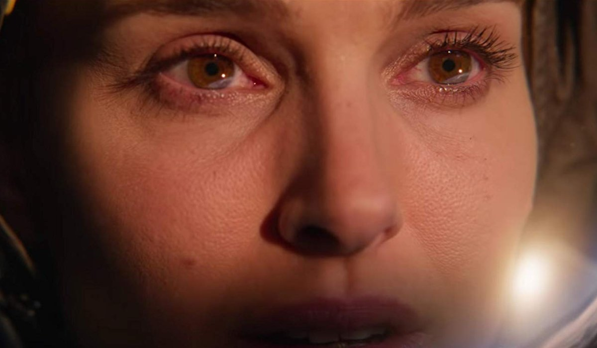 Lucy In The Sky Natalie Portman tears up looking at the sun in space