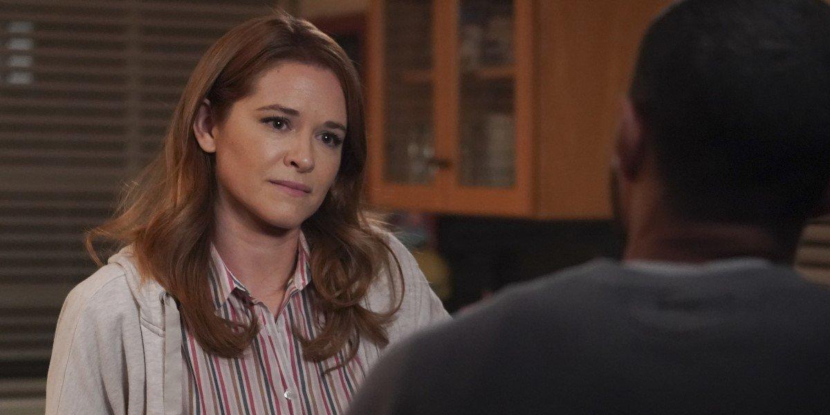 Sarah Drew as April Kepner and Jesse Williams as Jackson Avery in Grey's Anatomy.