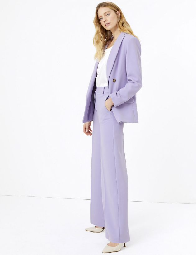 M&S lilac trouser suit