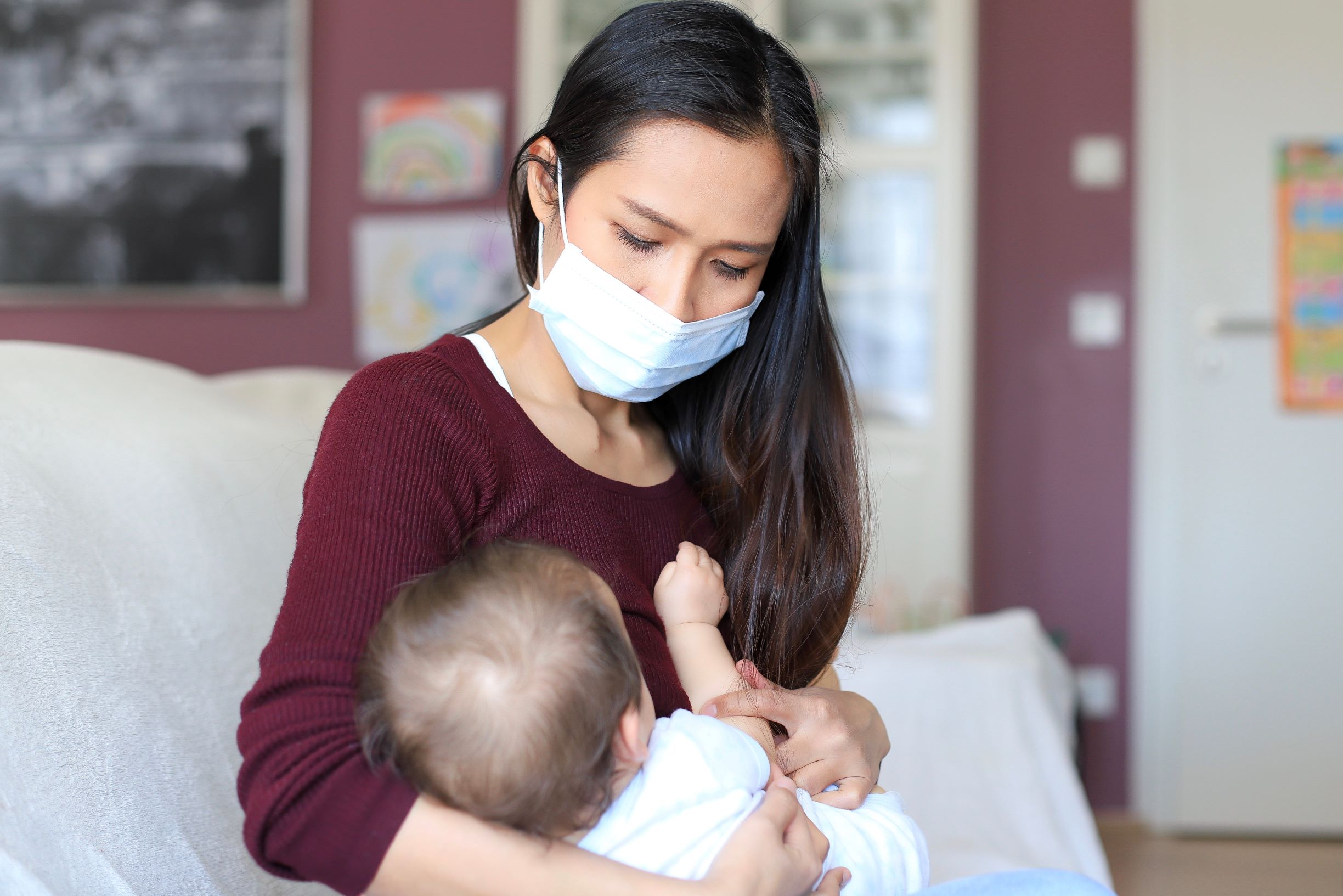Mothers with COVID-19 are unlikely to pass it to their babies if they wear a  mask and wash their hands   Live Science