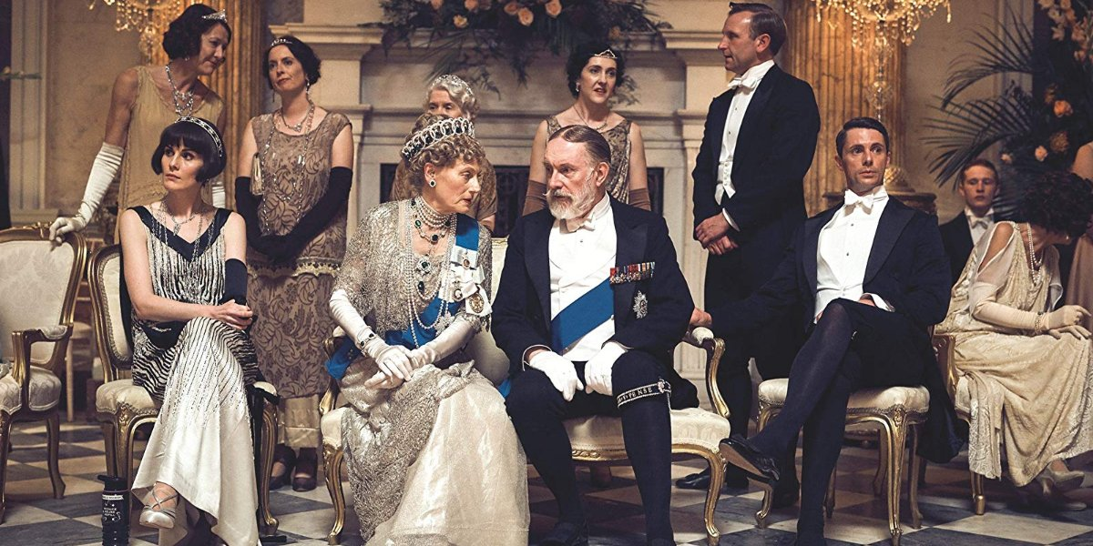 Downton Abbey the royals sitting in the midst of the Crawley family, at a ball