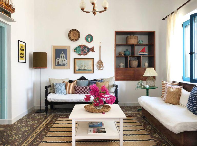 Colorful Greek villa designed by Howark Design