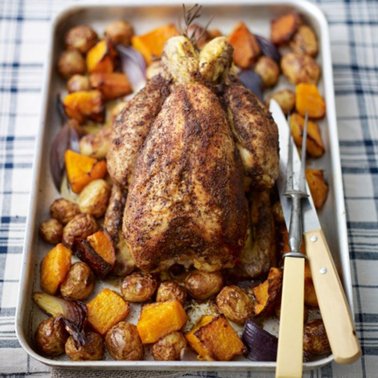 Middle Eastern Roast Chicken with Sumac, Lemon and Rosemary recipe-new recipes-woman and home