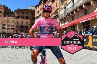 Egan Bernal stands alone ahead of the 2021 Giro d'Italia peloton