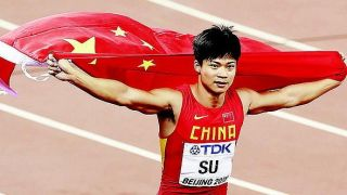 Watch Chinese sprinter Su Bingtian at the Shanghai Diamond League athletics