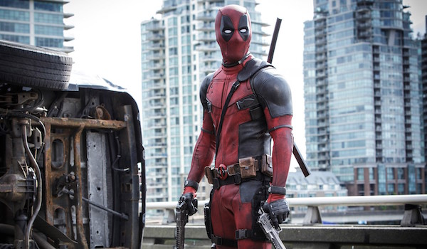 Deadpool holding guns